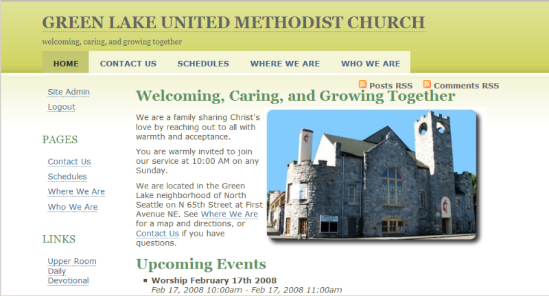 greenlakeumc.org in 2008